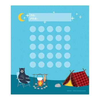 Wander Ridge Collection, Customizable Mini Incentive Charts, 5.25 x 6 Inches, 36 Sheets
