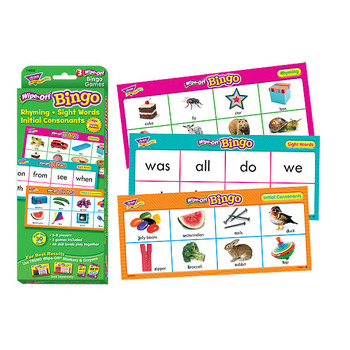 Rhyming, Sight Words, Consonants - Wipe Off Bingo