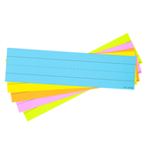 Lined Word Strips, 1.50-Inch Ruled, Five Bright Colors, 3 x 11.50 Inches, Pack of 75