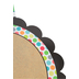 TooCute Collection, Two-Sided Disc Decoration, 15-Inch, Multi-colored Craft Paper and Dots Design