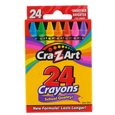 Cra-Z-Art Crayons, Assorted Colors, Box of 24