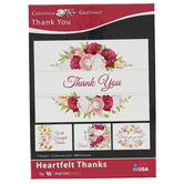 Warner Press, Heartfelt Thanks Thank You Boxed Cards, 12 Cards with Envelopes