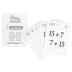 Classical Conversations, Math Flashcards Set 1, Addition, Commutative Law, 68 Cards, Grades K-5