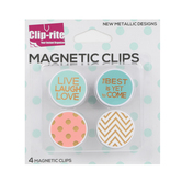 Clip-rite, The Best Is Yet To Come & Live Laugh Love Magnetic Clips, 1 Each of 4 Designs