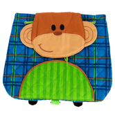 Stephen Joseph, Monkey Little Buddy Bag, Ages 1 to 4 Years Old, 9 1/4 x 9 1/2 x 2 3/4 inches