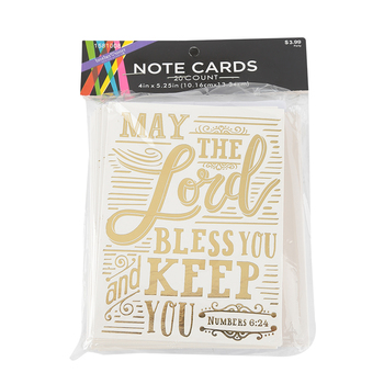Brother Sister Design Studio, Numbers 6:24 May the Lord Bless You Note Cards, 20 Cards with Envelopes