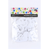 Tree House Studio, Self-Adhesive Felt Letters & Numbers, 2 inches, White, 81 Pieces
