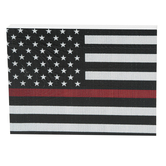 Mardel, Firefighter Flag Wood Decor, Multi-Colored, 7.25 x 5.38 x 1.12 Inches