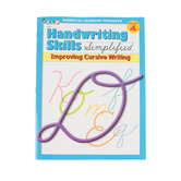 Handwriting Skills Simplified: Improving Cursive Writing,  64 Pages, Paperback, Grade 4