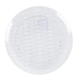 Innovative Designs, Clear Plastic Crystal Cut Serving Platter, Round,  16 Inch Diameter, 1 Each