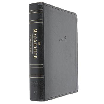 NASB MacArthur Study Bible, Imitation Leather, Raven