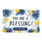 You Are A Blessing Floral Pattern Gift Card