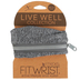 FITKICKS, FITWRIST Live Well Active Lifestyle Wrist Wallet, Heathered Grey, One Size