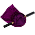 Christian Brands, Velvet Offering Bag with Wood Handles, Purple, 10 x 11 1/4 inches