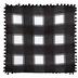 Buffalo Check Fall Pumpkin Truck Pillow Cover, Black & White, 18 x 18 inches