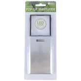 Mighty Bright, LED Lighted Pop-Up Magnifier, Silver, 8 x 3 x 1 inches