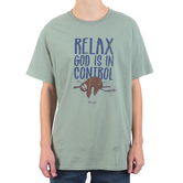 Kerusso, Philippians 4:6-7 Relax God Is In Control, Men's Short Sleeve T-shirt, Sagestone, S-3XL