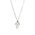 H.J. Sherman, Faux Mother of Pearl Cross, Women's Necklace, Stainless Steel, 18 inches