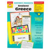 Evan-Moor, History Pockets Ancient Greece Teacher Reproducible, Paperback, 96 Pages, Grades 4-6