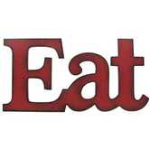 Eat Wall Word Plaque, Red, 16 x 8 inches