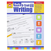 Evan-Moor, Daily 6-Trait Writing Teacher's Edition, Paperback, 160 Pages, Grade 4