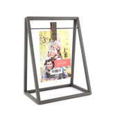 Green Tree Gallery, Trapeze Style Clip Frame, Metal, 5 X 6 inches