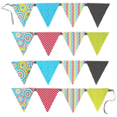 Isabella Collection, Double-Sided Pennant Banner, 8 Designs, 16 Flags, 12 Feet