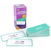 The Brainery, Mastering Sight Words Flash Card Set, 170 Cards, 3.25 x 8 Inches, Grades K-3