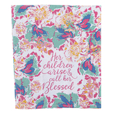 Mary Square, Proverbs 31:28 Her Children Arise Tea Towel, Cotton, 15 3/4 x 23 1/2 inches