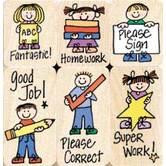 Big 'N Little Hero Kids For Teachers Stamp Set