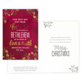 Renewing Faith, John 1:14 Peace to All Boxed Christmas Cards, 18 cards