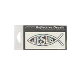 Elektroplate, Christian Fish Reflective Car Decal, Silver, 1 1/4 x 4 inches