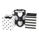 Schoolgirl Style, Simply Stylish Pencil Cups, Black and White, Assorted Sizes, Set of 3