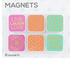 Clip-rite, Live Laugh Love Magnet Set, Fuchsia, Orange, & Green, 1 Each of 6 Designs