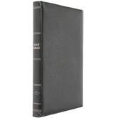 NIV Thinline Bible, Large Print, Premium Leather Goatskin, Black