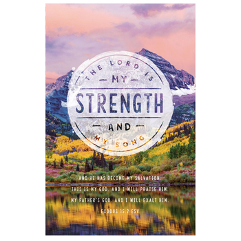 Salt & Light, The Lord Is My Strength Church Bulletins, 8 1/2 x 11 inches Flat, 100 Count