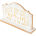 His & Hers, We Know You'd Be Here Today Tabletop Plaque, White & Gold, 10 x 6 3/4 x 2 1/2 inches