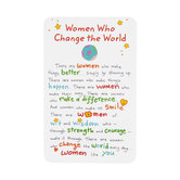 Blue Mountain Arts, Women Who Change The World Wallet Card, 2 x 3 1/4 inches