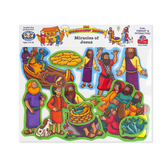Little Folk Visuals, Beginner's Bible Miracles of Jesus Felt Set, 12 Pieces