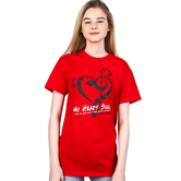 Gardenfire, Ephesians 5:18, My Heart Sings, Women's Short Sleeve T-Shirt, Red