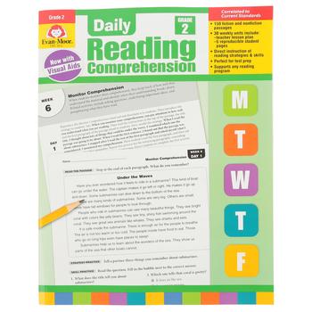 Evan-Moor, Daily Reading Comprehension Grade 2, Paperback, 208 Pages, Grade 2