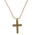 Dicksons, I Said A Prayer For You Today Cross Necklace, Brass, 24 inches