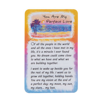 Blue Mountain Arts, You Are My Perfect Love Wallet Card, 2 x 3 1/4 inches