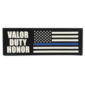 Policeman Decorative Tabletop Plaque, Marble Look, 7.50 x 2.50 Inches