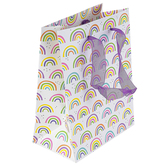 Brother Sister Design Studio, Retro Rainbow Pattern Gift Bag, Small, 6 1/2 x 8 1/2 inches