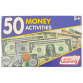 Junior Learning, 50 Money Activities USA, 52 Pieces, Multi-Colored, Grades K and up