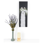 Flower Crown Llama Canvas Wall Decor, Black and White, 23 7/8 x 7 7/8 x 1 1/2 inches