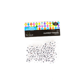 Tree House Studio, Number Beads 0-9, 6.5mm, Black and White, 200 count