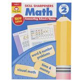 Evan-Moor, Skill Sharpeners Math Activity Book, Paperback, 144 Pages, Grade 2
