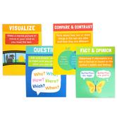 Carson-Dellosa, Reading Comprehension Strategies Mini Poster Set, 8 1/2 x 11 Inches, Pack of 12